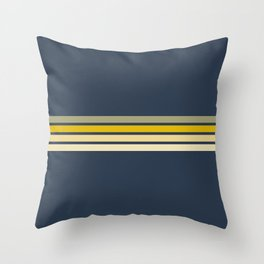 Racing Retro Stripes Throw Pillow
