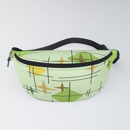 MidCentury Modern Pattern Chartreuse Citrus Fanny Pack