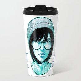 Blue and Black Travel Mug