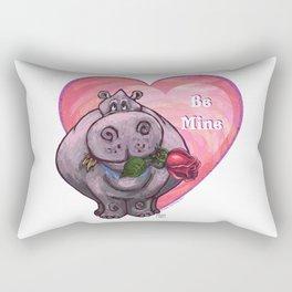 Hippopotamus Valentine's Day Rectangular Pillow