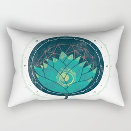 Blue Lotus Rectangular Pillow