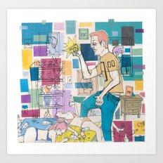 Me, Me, Me. Art Print