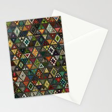 sun bear geo dark Stationery Cards