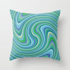Twist and Shout-Oceania colorway Throw Pillow