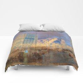 Drawbridge Chicago River City Skyline Comforters