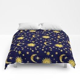 Sun, Moon & Stars Comforters