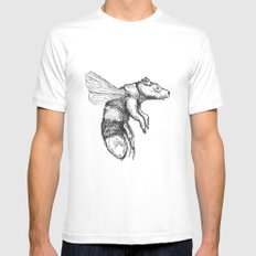 Bumblebear White MEDIUM Mens Fitted Tee