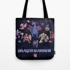 Warrior Dragon Tote Bag