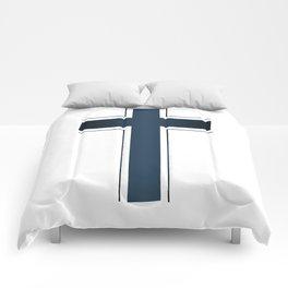 Isolated Christian Crucifix Comforters