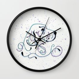 Abstract Blue English Setter Wall Clock