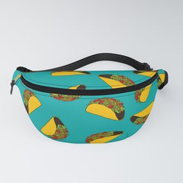 Flock of Gerrys Teal Taco Print Fanny Pack