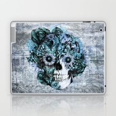 Blue grunge ohm skull Laptop & iPad Skin