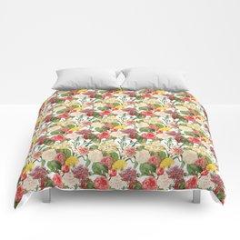 Vintage Floral Pattern   No. 1B Comforters