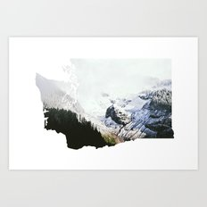 I Love Washington I Art Print