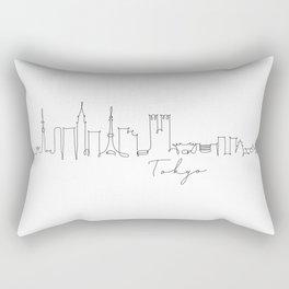 Pen line silhouette Tokyo Rectangular Pillow