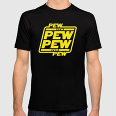 Pew Pew Pew Mens Fitted Tee Black LARGE
