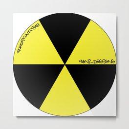 MANI Designs' Style 'Radiactive' logo Metal Print