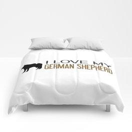 I Love My German Shepherd Comforters