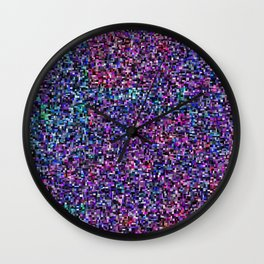treemap mosaic - [interstellar] dust and gas cloud Wall Clock