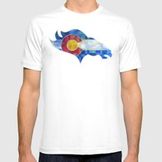 BRONCOS Mens Fitted Tee White LARGE
