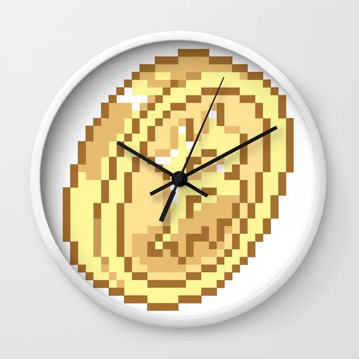 Bitcoin Pixel Art Wall Clock by bankaire | Society6
