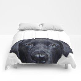 Labrador with white background Dog illustration original painting print Comforters