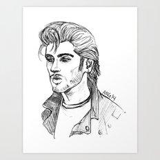 Greaser Zayn Art Print