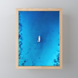 Deep Blue Sea Framed Mini Art Print