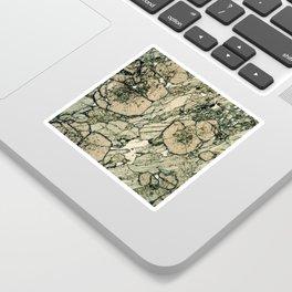 Garnet Crystals Sticker