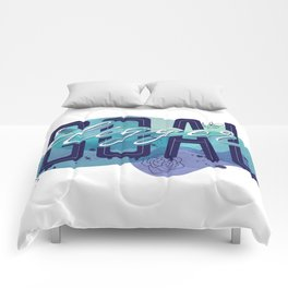 Goal Digger Quote | Lettering Design Comforters