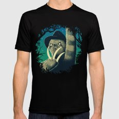 Sloth Freddy Black Mens Fitted Tee X-LARGE