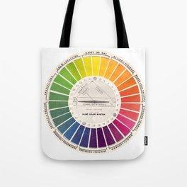 Vintage Color Wheel - Art Teaching Tool - Rainbow Mood Chart Tote Bag