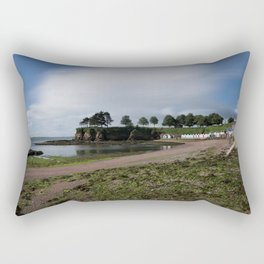 Torquay Corbyn Sands Beach Huts Rectangular Pillow