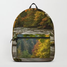 harz germany autumn river trees Backpack