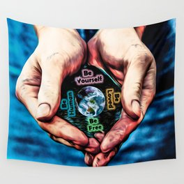 Advent Guard Earth Heart Wall Tapestry