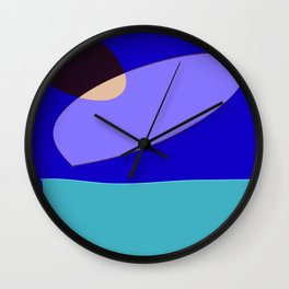 Minimal With Blue Wall Clock