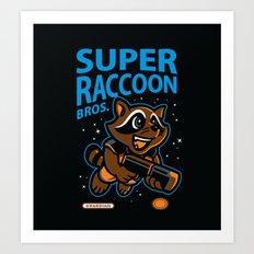 Super Raccoon Art Print