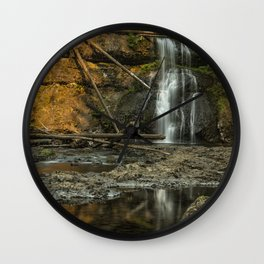 Upper North Falls, Late Summer Wall Clock
