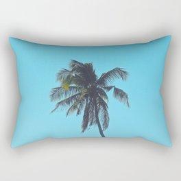 Palm in Blue Rectangular Pillow