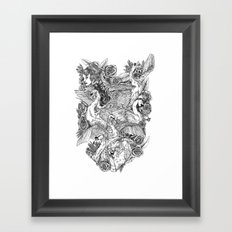 The Six Swans Framed Art Print
