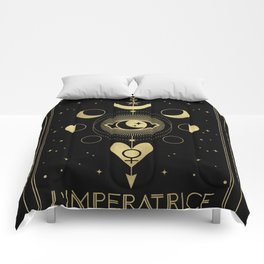L' Imperatrice or The Empress Tarot Gold Comforters