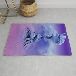 spirals and clouds -3- Rug