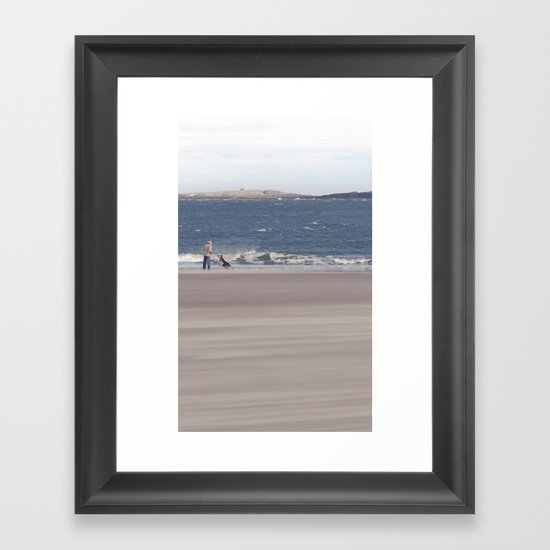 fishing with dogs... Framed Art Print