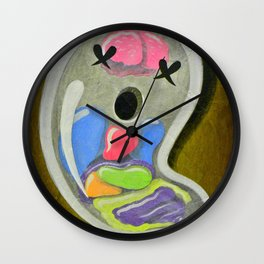 """""""Mr. Ghostee(the living ghost)"""" Wall Clock"""