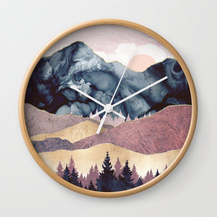 Mauve Vista Wall Clock
