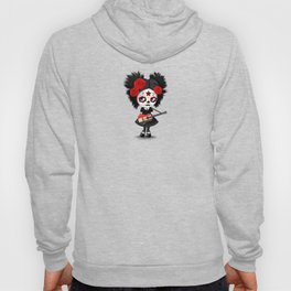 Day of the Dead Girl Playing Egyptian Flag Guitar Hoody