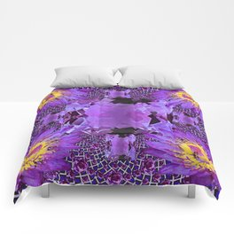 EXOTIC AMETHYST FEBRUARY  FLORAL FANTASY  ABSTRACT Comforters