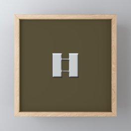 Captain  (Brown) Framed Mini Art Print