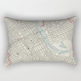 Vintage Map of Nashville TN (1901) Rectangular Pillow