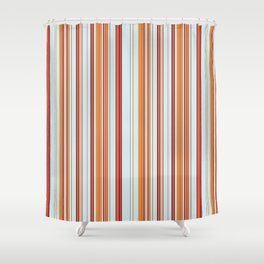 Combined Stripe Pattern - Clear Sailing Colorway Shower Curtain